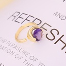 fashion multicolor faceted zircon copper open ring  NHBW372792