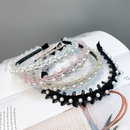 Korean Style Cute Pearl Lace Cat Ears Hair Band  NHFS372818