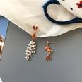 NHBY1724761-Pair-of-S925-Silver-Needle-Bear-Earrings