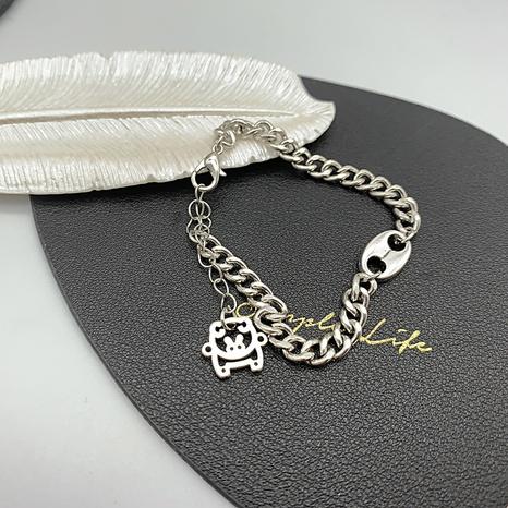 retro simple pig nose shape chain bracelet  NHGI372827's discount tags