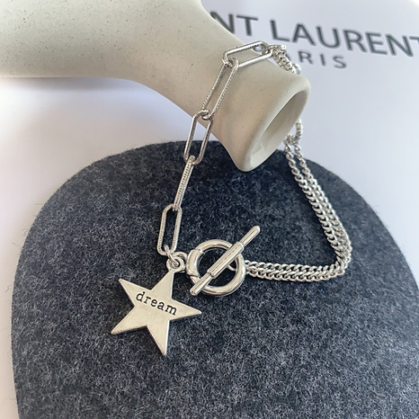 retro five-pointed star pendant OT bucklet bracelet NHGI372831's discount tags