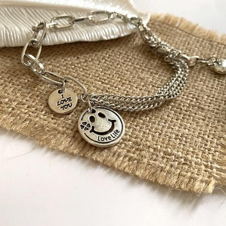 retro round card heart pendant smiley face bracelet   NHGI372826's discount tags