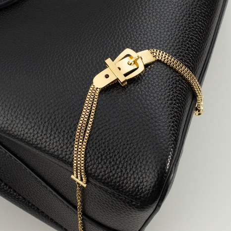 Korean simple belt buckle multi-layer chain stainless steel bracelet  NHGI372824's discount tags
