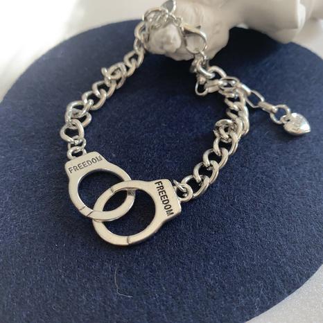 fashion handcuffs shape heart pendant bracelet  NHGI372829's discount tags
