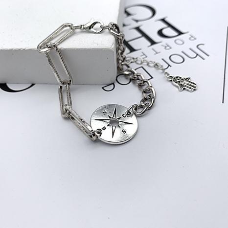 retro fashion hollow star brand palm shape pendant bracelet NHGI372833's discount tags