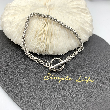 Korean fashion twist chain OT buckle bracelet  NHGI372835's discount tags