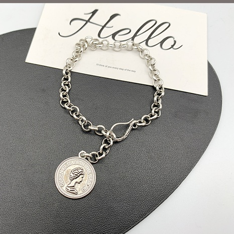 retro fashion goddess avatar round brand bracelet NHGI372837's discount tags