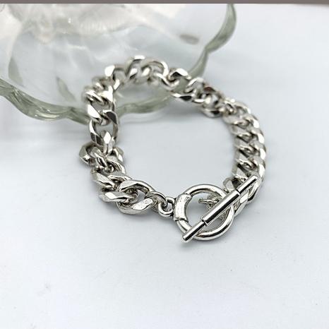 hip-hop fashion simple thick chain OT buckle bracelet NHGI372838's discount tags