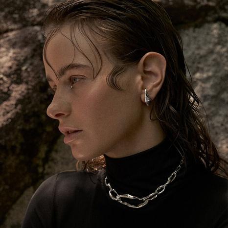 Simple geometric irregular circle copper earrings NHGI372873's discount tags