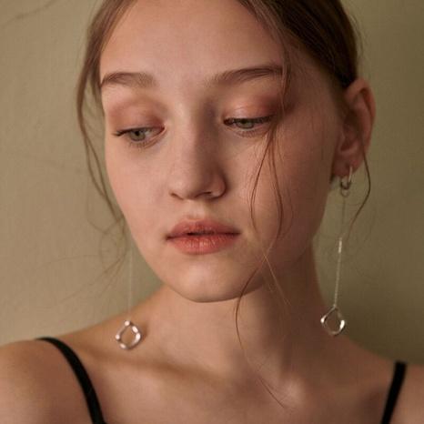 Simple fringe geometric long pendant copper earrings NHGI372887's discount tags