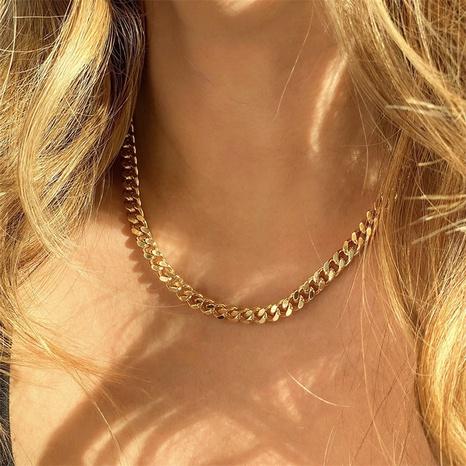 Nouveau collier géométrique en acier inoxydable à chaîne cubaine NHTF372953's discount tags