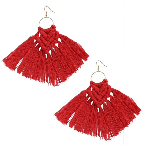Bohemian ethnic style handmadetassel earrings wholesale NHJQ372973's discount tags