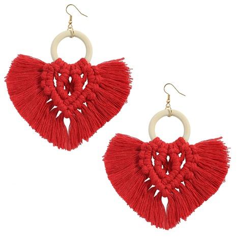 Bohemian ethnic style tassel fan-shape earrings NHJQ372971's discount tags