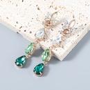 fashion multilayer dropshaped diamondstudded long earrings NHJE372988