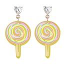 Korean cute resin lollipop earrings  NHJE372993