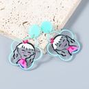 Korean style simple flower resin earrings  NHJE372994