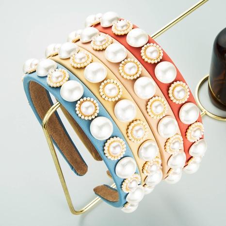 diadema de borde fino con flor de perla redonda de estilo barroco NHLN373000's discount tags
