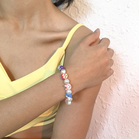 Bohemian ethnic geometric soft pottery fruit bracelet NHMD373024's discount tags