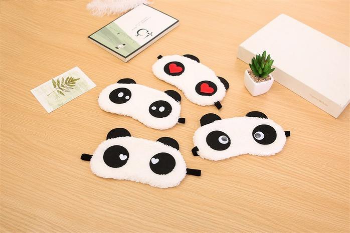 Masque pour les yeux de panda en peluche de dessin animé NHGO373671's discount tags