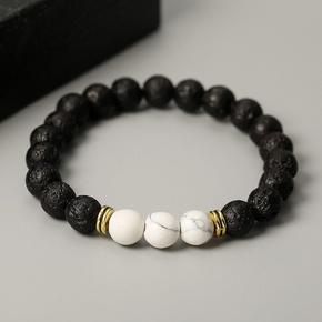 fashion multicolor volcanic stone beaded bracelet  NHGQ373056