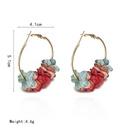 Korean cloth flower alloy earrings NHGQ373057