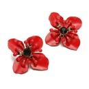 Fashion Diamond Petal Fresh 3 Color Petal Flower Stud Earrings  NHGQ373059