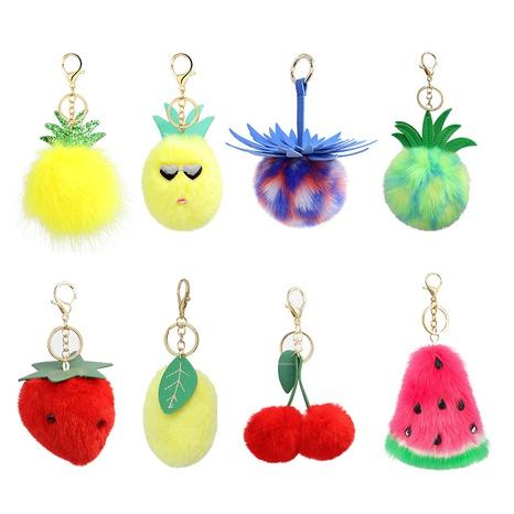 Fashion fruit series fur ball fluff keychain  NHAP373369's discount tags