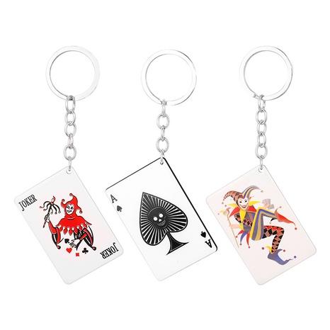 Fashion acrylic playing card tag key chain  NHAP373384's discount tags