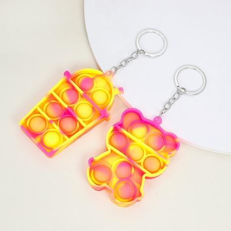 Porte-clés de jouet de thé de lait d'ours de bulle de presse de doigt de mode NHAP373387's discount tags