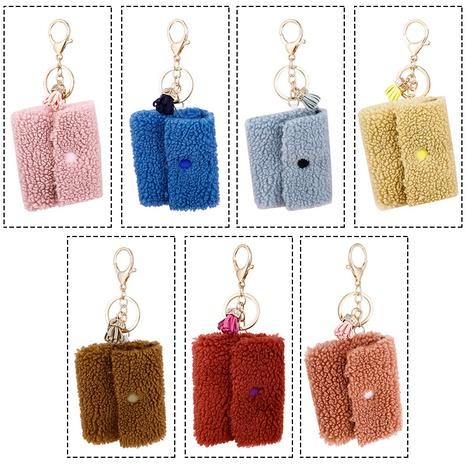 cute fruit color pendant plush storage key bag NHAP373389's discount tags