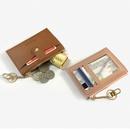 Korean style pure color lock creative PU zipper card bag wholesale  NHBN373482