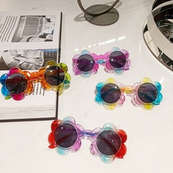 Fashion colorful transparent jelly color flowers children sunglasses wholesale NHBA373507
