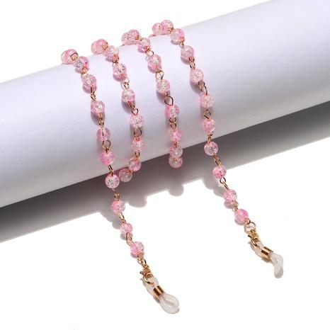 Mode goldene rissige rosa Perlen handgemachte Brillenkette Großhandel NHBC373538's discount tags