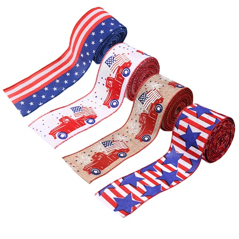 Fashion American Independence Day color printing ribbon  NHHB373590's discount tags