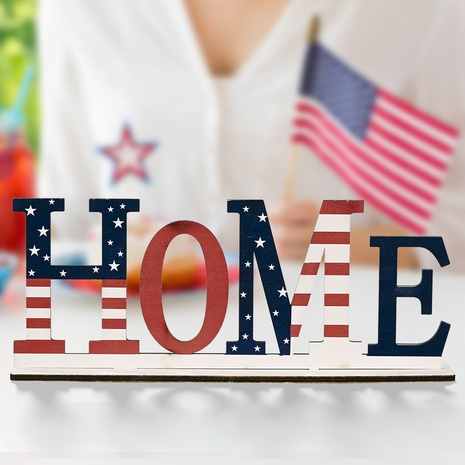 Fashion United States Independence Day Holz Alphabet Dekoration NHHB373589's discount tags