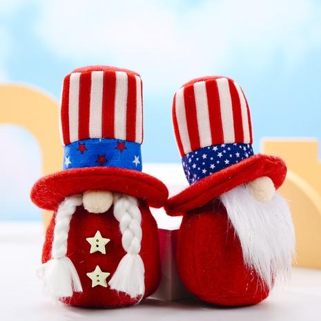 Ornements de poupée Rudolph à rayures étoilées avec chapeau rond à la mode NHHB373605's discount tags