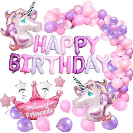Décoration de fête d'anniversaire de ballon de licorne de mode NHAH373608's discount tags
