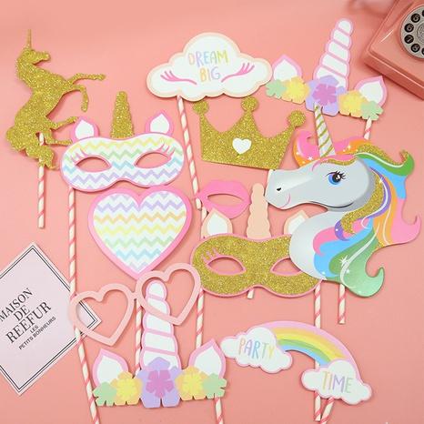 Ensemble de 12 pièces de décoration de fête de licorne à la mode NHAH373613's discount tags
