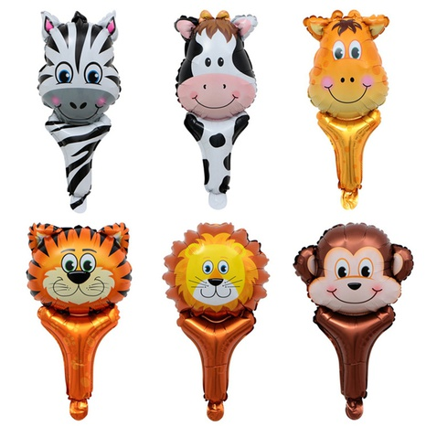 Cartoon-Tiere, die Ballons aus Aluminiumfolie halten NHAH373617's discount tags