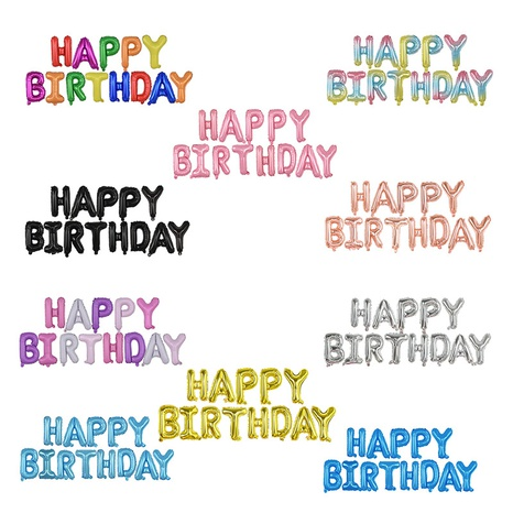 Décoration de ballon de joyeux anniversaire de film d'aluminium de lettre de mode NHAH373620's discount tags