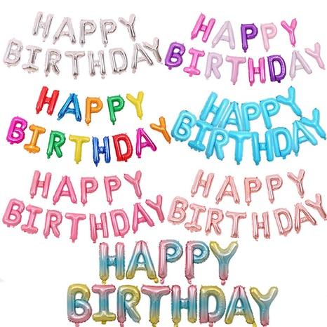 Ensemble de décoration de ballon joyeux anniversaire à la mode NHAH373621's discount tags