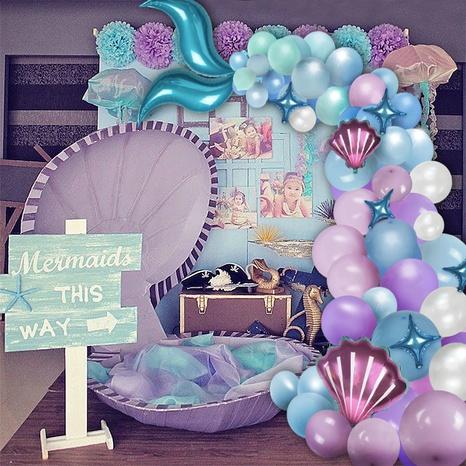 Koreanisches Meerjungfrauenschwanz-Ballonkettenset NHAH373624's discount tags
