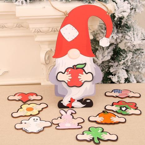 Mode Holzkarikatur Weihnachtsmann austauschbare Türanhänger Großhandel NHMV373629's discount tags