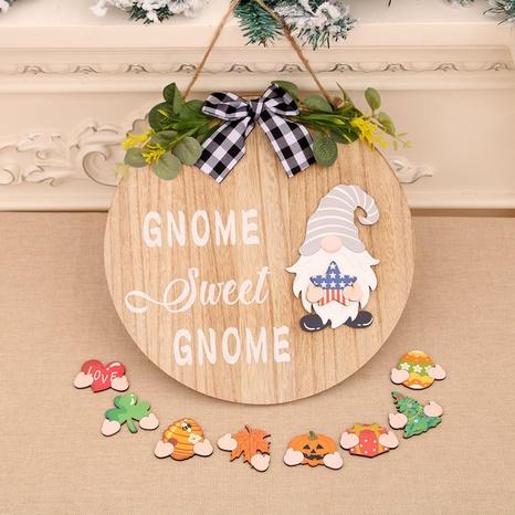 Mode Weihnachten Holz Stereo Girlande Tür Anhänger Großhandel NHMV373632's discount tags