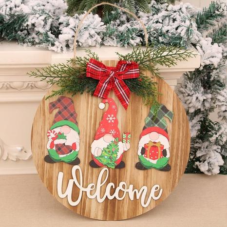 Weihnachten Holzgirlande Bowknot Willkommen Anhänger Faceless Gnome Door Hanging Großhandel NHMV373639's discount tags