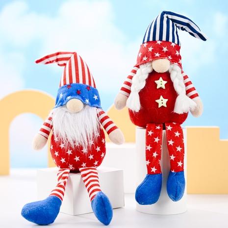 chapeau pointu de dessin animé ornements de poupée en peluche étoile à cinq branches à longues jambes NHMV373640's discount tags