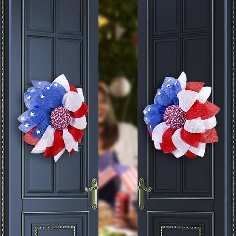 Guirlandes de décoration de fenêtre de vacances en famille de la fête de l'indépendance américaine à la mode NHMV373644's discount tags