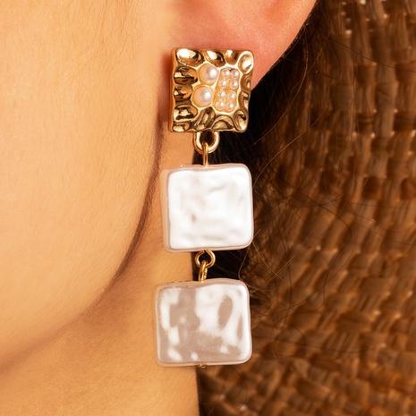 Nihaojewelry Schmuck Großhandel quadratische geometrische Quaste lange Ohrringe NHGY374299's discount tags