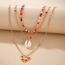 Nihaojewelry Jewelry Metal Beads Shell Butterfly Pendant Necklace Wholesale  NHGY374294