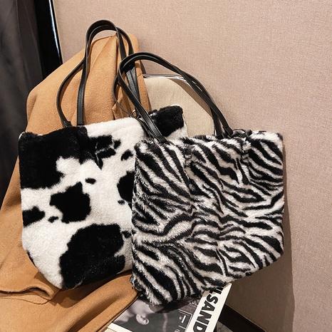 fashion zebra cow stripe large-capacity shoulder tote bag wholesale NHXC373741's discount tags